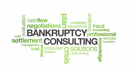 debts : Bankruptcy Consulting Stock Footage