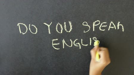 İngilizce : Do You Speak English? Stok Video