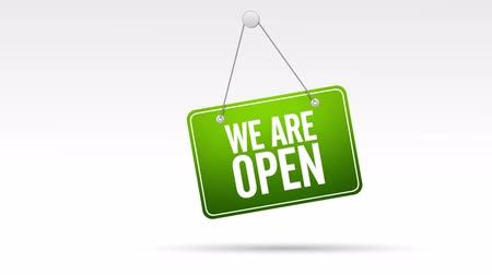 znak : We Are Open Store Sign