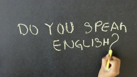 общаться : Do You Speak English? Стоковые видеозаписи