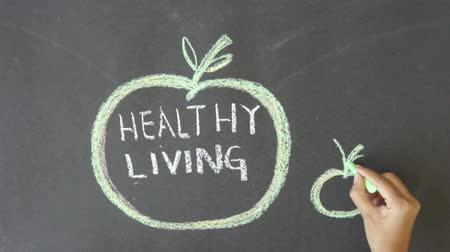 besinler : Healthy Living Stok Video