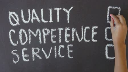 customer : Quality, Competence, Service