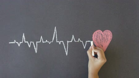 oran : Heartbeat Diagram Stok Video