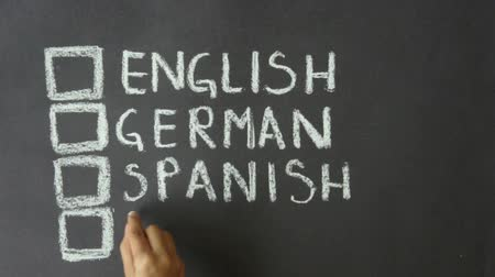 almanca : English, German, Spanish, French Chalk Drawing