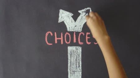 escolha : Choices Chalk Drawing