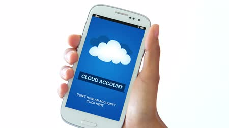 felhőzet : Cloud Account Stock mozgókép