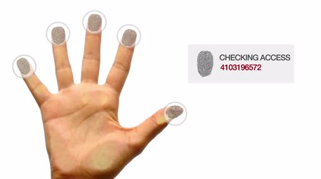 secreto : Finger Print Scanner conceder el acceso Archivo de Video
