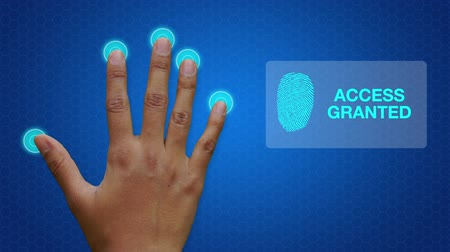 drzwi : Hand scanner granting access