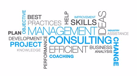 problem : Management Consulting word cloud text animation