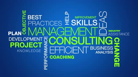 подготовке : Management Consulting word cloud text animation