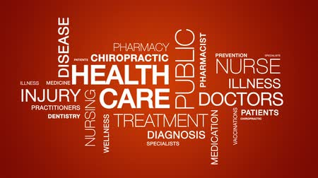 hemşirelik : Health Care Word Cloud Animation