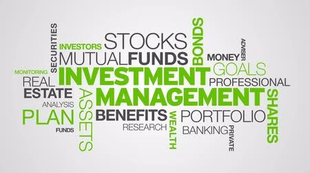 gestão : Investment Management Word Cloud Animation