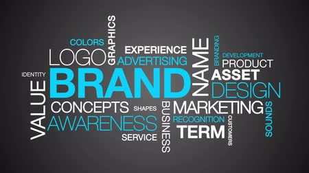 business values : Brand Word Cloud Text Animation Stock Footage