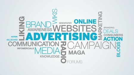 the media : Advertising Word Cloud Animation