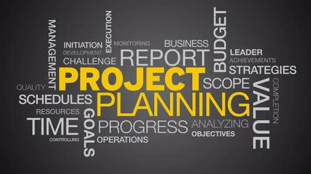 gestão : Project Planning Word Cloud Animation Stock Footage