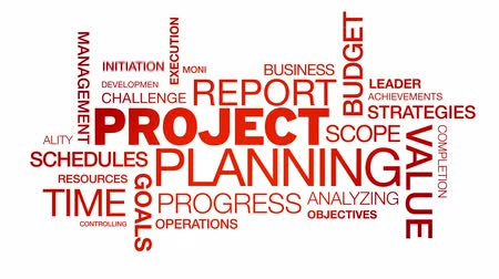 Projectplanning Word Cloud animatie