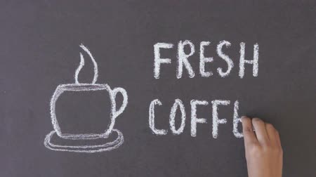 coffee brewing : Fresh Coffee Chalk Drawing