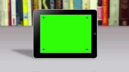 compresse : Tablet con schermo slideshow verde Filmati Stock