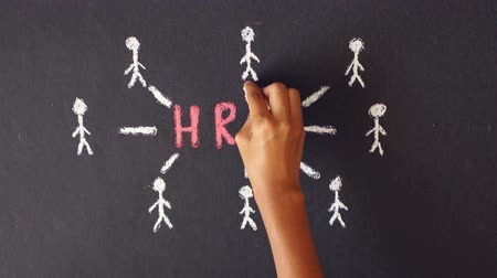 alkalmazottak : Human resource management chalk drawing