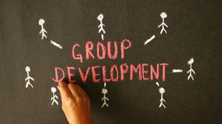 gelişme : Group Development Chalk Drawing
