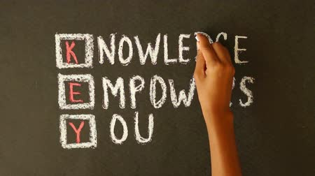 znalost : Knowledge Empowers You Chalk Drawing