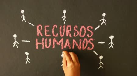 gestão : Human resource chalk drawing