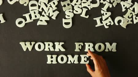 financial : Work From Home Stock Footage