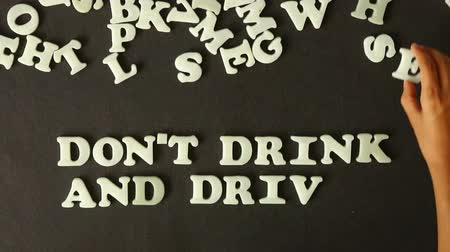 dui : Dont Drink And Drive Stock Footage