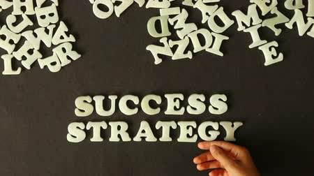 стратегический : Success Strategy Стоковые видеозаписи