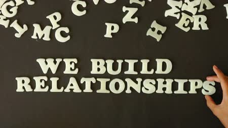 business values : We build Relationships Stock Footage