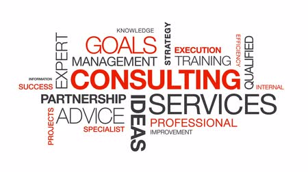 relação : Consulting Services word cloud on white background