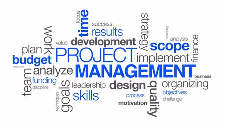 проект : Project Management word Cloud on white background