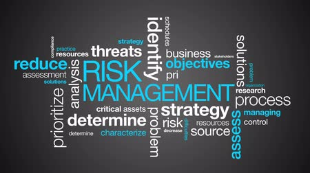 értékelés : Risk Management Word Cloud on dark background