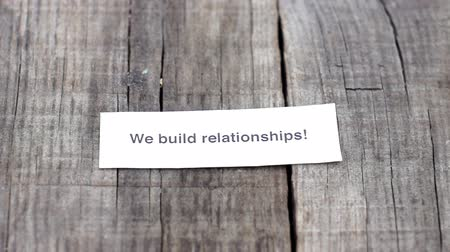 relação : We build relationships Stock Footage