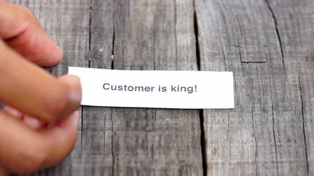 excelência : Customer is King Stock Footage