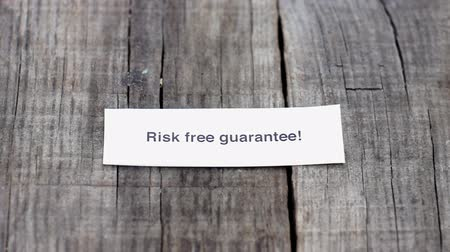 cash free : Risk Free Guarantee Stock Footage