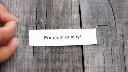 slib : A Premium Quality paper sign on wood background