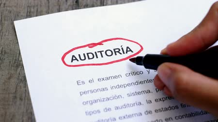 despesas : Circling Audit with a pen (In Spanish)