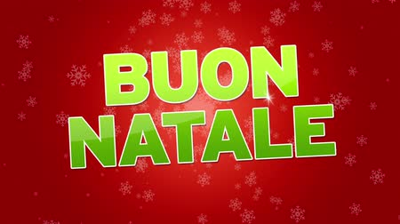 regali : Buon Natale (In italiano) Filmati Stock