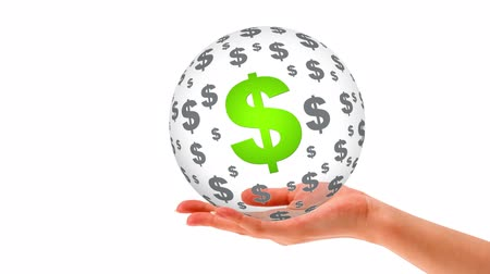 imposto : A person holding a 3D dollar Sphere