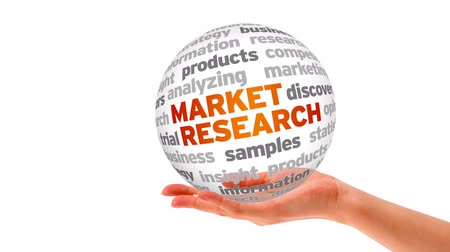 insight : A person holding a 3D Market Research Sphere Stock Footage