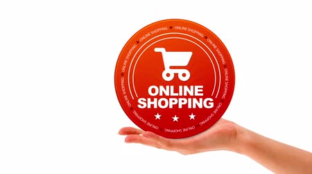 oferta : A person holding a Online Shopping Icon Vídeos