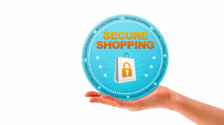 oferta : A person holding a secure shopping sign