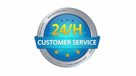 business values : 24 hours Customer Service Sign Stock Footage