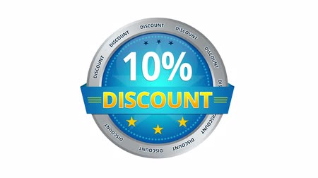 oferta : Blue Animated 10 percent discount icon