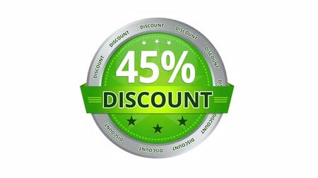 slib : Green Animated 45 percent discount icon