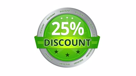 slib : Green Animated 25 percent discount icon