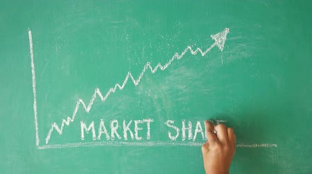 statistic : Market share chalk Diagram timelapse Stock Footage