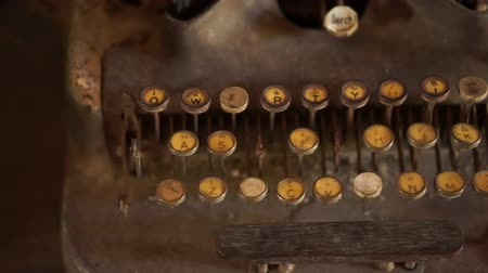 yazarak : Dolly shot of an old, vintage typewriter