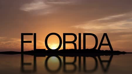 Word Florida With Sunset Timelapse in the background Stock mozgókép